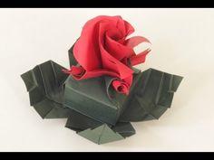 "Tutorial video / How to make the origami Versailles box Origami para dar de presente no próximo dia dos namorados! =D Inspired for ""Valentine's day"" here in ..."