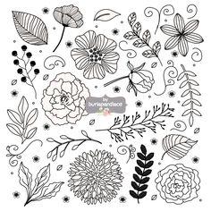 Rustieke bruiloft clipart bloem clipart Hand Drawn clipart