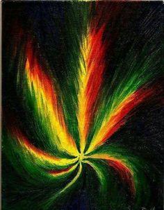 Rasta marijuana leaf