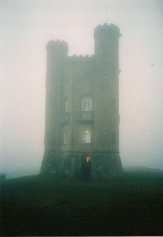 castle keep in the fog