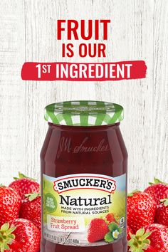 Strawberries are our number one ingredient in Smucker's® Natural Strawberry Fruit Spread. A family favorite, with just the right balance of flavor, Smucker's® Natural Strawberry Fruit Spread lets the natural delight of sun-ripened sweetness shine through. Fruit Recipes, Diabetic Recipes, Low Carb Recipes, Diet Recipes, Healthy Recipes, Steak Recipes, Onion Recipes, Ketogenic Recipes, Recipies