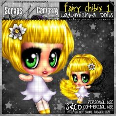 """""""FAIRY CHIBIX 1 CU"""" by LadyMishka Dolls http://scrapsncompany.com/index.php?main_page=product_info&cPath=490_417&products_id=11652"""