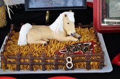 This was Hope's bday cake she luved it Cowboy Birthday Cakes, Cowgirl Cakes, Horse Birthday Parties, Birthday Ideas, Cupcakes, Cupcake Cakes, Ultimate Vanilla Cake Recipe, Buttercream Fondant, Farm Cake