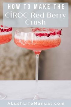 Make this pretty cocktail for Valentine's Day and any other day you want to feel in the pink. Cîroc Red Berry Vodka is the perfect choice for romance. Best Vodka Cocktails, The Best Vodka, Cocktails For Parties, Easy Cocktails, Classic Cocktails, Holiday Cocktails, Cocktail Recipes For A Crowd, Food For A Crowd, Cocktail Party Food