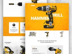 DeWALT Product Page Redesign Concept
