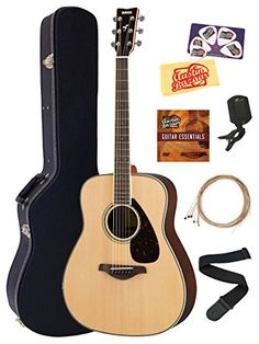 Yamaha FG830 Acoustic Guitar Bundle with Hard Case Tuner Strap Strings Austin Bazaar Instructional DVD Picks and Polishing Cloth  Natural -- Check out this great product.Note:It is affiliate link to Amazon. #comments