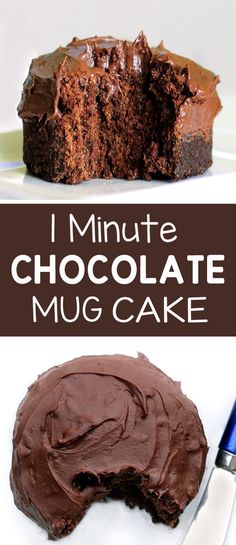 One minute chocolate mug cake the best easy mug cake microwave recipe brownie for one! an easy single serving chocolate dessert in a mug or cup! quick dessert recipe anyone can do vegan and dairy free listotic com Microwave Chocolate Mug Cake, Mug Cake Microwave, Chocolate Mug Cakes, Best Chocolate Mug Cake Recipe, Easy Microwave Desserts, Microwave Mug Recipes, Microwave Food, Chocolate Lovers, Easy Mug Cake