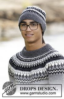 Men - Free knitting patterns and crochet patterns by DROPS Design Baby Knitting Patterns, Jumper Patterns, Free Knitting, Crochet Patterns, Drops Design, Norwegian Knitting, Baby Cardigan Knitting Pattern, Fillet Crochet, Knitted Hats