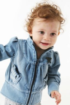 phatoak-MINI : Garby jacket in soft Jog-denim ♥