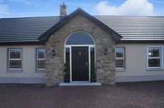 90% Tipperary Brown & 10% Tipperary Blue Sandstone - Coolestone Stone Importers Suppliers Masonry Tyrone Northern Ireland Blue Granite, Double Front Doors, Stone Masonry, House Windows, Northern Ireland, Modern Design, New Homes, Outdoor Structures, Brown