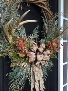 Cool Rustic Wreaths Christmas Decoration Ideas20