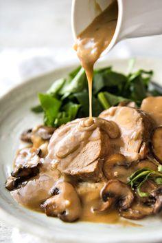 pork tenderloin with creamy marsala sauce pork tenderloin served with ...
