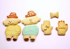 Cute patissier baked cookies