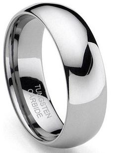 King Will Mens 8mm Black Matte Finish Tungsten Carbide Ring 18K