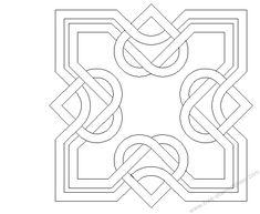 Mosaic Pattern: square celtic heart, nice.