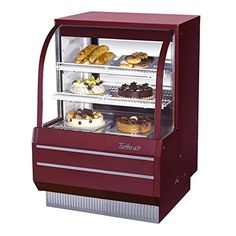 "#Turbo Air's 36"" Curved Glass Non-Refrigerated Dry Bakery Display Case ( #TCGB-36-DR) is the perfect case for displaying dry baked goods to customers. This case fe..."