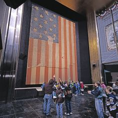 The original Star Spangled Banner:  Photo courtesy of the Smithsonian's National Museum of American History