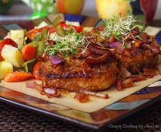 Sautéed boneless Pork Chops and Roasted Potatoes with Veggie Medley!