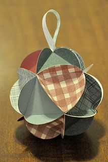 DIY paper ornament - good step by step instructions w/ pictures