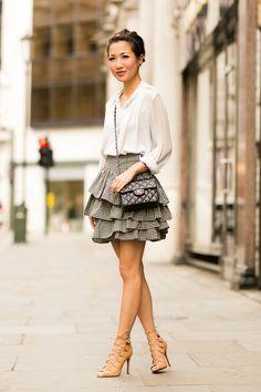 Ruffled :: Printed blouse