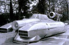 Full size prototype of the Aerotrain, France, late '60s