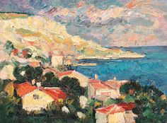 Title: Balchik Gulf Artist: Stefan Dimitrescu Date: 1930 Landscape-- The artist has shown the Balchik Gulf landscape. Style: Idealism-- The artist has combined the landscape scene with his idea of perfection. Canvas Online, Post Impressionism, Art Database, Oil Painting Reproductions, Old Master, City Art, French Art, Contemporary Art, Illustration