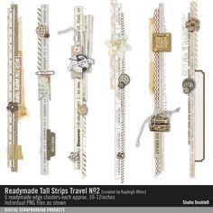 Readymade Tall Strips: Travel No. 02 element border strips #designerdigitals