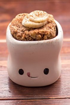 Skinny Microwave Banana Mug Cake Recipe with Almond Butter, Egg, Vanilla Extract, Oat Flour, Baking Mug Recipes, Almond Recipes, Cake Recipes, Dessert Recipes, Desserts, Easy Microwave Recipes, Microwave Cake, Microwave Meals, Banana Mug Cake