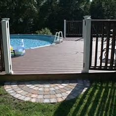 1000 images about pool on pinterest above ground pool for Multi level deck above ground pool