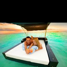 Floating day bed - Ritz Carlton Grand Cayman