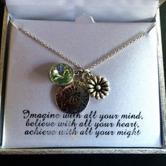 30% Off Bundles NWT Silver Necklace w/Charms Achieve, believe, imagine on charm Jewelry Necklaces