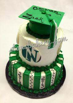 Tiered Graduation Cake For Nordonia High School cakepins.com
