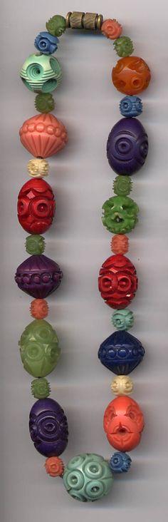 Vintage Casein beads. *celluloid Bakelite Erinoid Galalith Galalithe