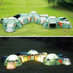 Oh my!  Soooooo many optons!  Add a room to that tent!  How cool!?!