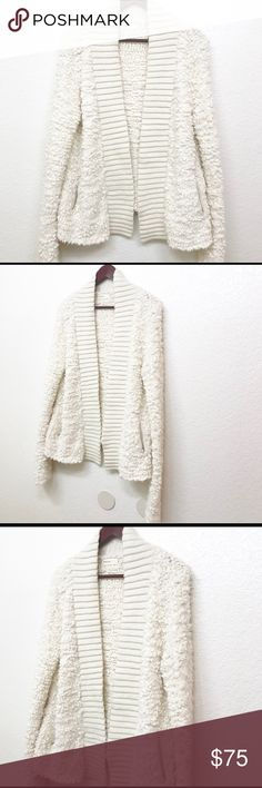 "Anthropologie Sleeping On Snow Cloud Cardigan L Anthropologie Sleeping On Snow Cloud Cardigan Size Large Cashmere Wool Blend Cozy Very Soft two pockets ivory/ cream color Measurements are Approximate  Bust: 22.5"" Length: 26.5"" Anthropologie Sweaters Cardigans"