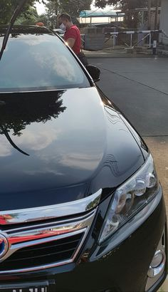 Camry Hybrid washed with waterless wash