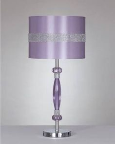 Nyssa Table Lamp, Light Purple