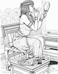 Egyptian women wore transparent linen dresses at times pleated. (From historyon Ancient Egyptian Clothing, Egyptian Fashion, Egyptian Women, Coloring Book Art, Colouring Pages, Tableaux Vivants, Tinta China, Fantasy Photography, Ancient Artifacts