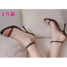 Simple bandeau fashion sexy Sandals shoe with a leather grain and women high heel sandals