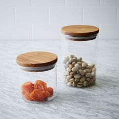 Olive Wood + Glass Canister | west elm
