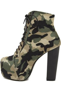 Army Green Denim Camouflage Pattern Lace Up Chunky High Heel.- Army Green Denim Camouflage Pattern Lace Up Chunky High Heel Booties Army Green Denim Camouflage Pattern Lace Up Chunky High Heel Booties – – - Platform Ankle Boots, High Heel Boots, Heeled Boots, Boot Heels, Ankle Booties, Ankle Shoes, Platform Pumps, Pumps Heels, Stiletto Heels