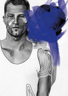 Masquerade by Caroline Grohs, via Behance