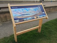 MicroDurable lectern sign at West Shore, Llandudno