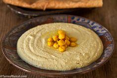 iraqi-style hummus, basically the most beautiful hummus i've ever seen // via tasteofbeirut.com
