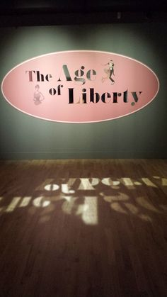 The banner in Ulster Museum, The Age of Liberty exhibition, Belfast, 2014