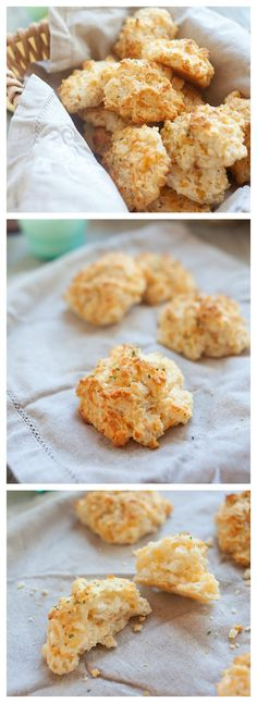 Copycat Red Lobster Cheddar Bay Biscuits. Super easy, 15 minutes to make these crumbly, cheesy, to-die-for Red Lobster biscuits.