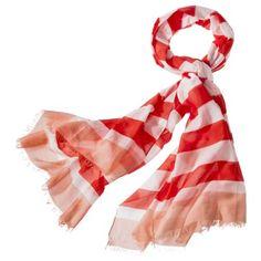 Merona® Rubgy Stripe Scarf - Pink