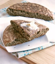 Sometimes a girl just needs some bread. While I eat grain-free dishes at times and I love my veggies, nuts and protein, I certainly can't resist a good slice of bread. Quinoa Bread, Buckwheat Bread, Vegan Bread, Paleo Vegan, Flour Recipes, Gf Recipes, Gluten Free Recipes, Cooking Recipes, Tortilla Recipes