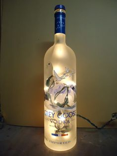 Grey Goose Liter Bottle Light..