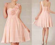 short bridesmaid dress blush bridesmaid dress by sposadress   flowers are a little much but i do kinda like it